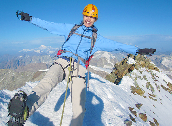 Karina Taugwalder of Online Presence Care Climbing the Matterhorn