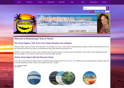 Client Tammy White, Owner of Dreamzscape Tours & Travel